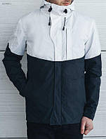 Мужская демисезонная куртка Staff Rols white and navy BZP0013
