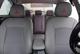 Чехлы на сиденье Mitsubishi Lancer X 2008- эко.кожа+автоткань Union