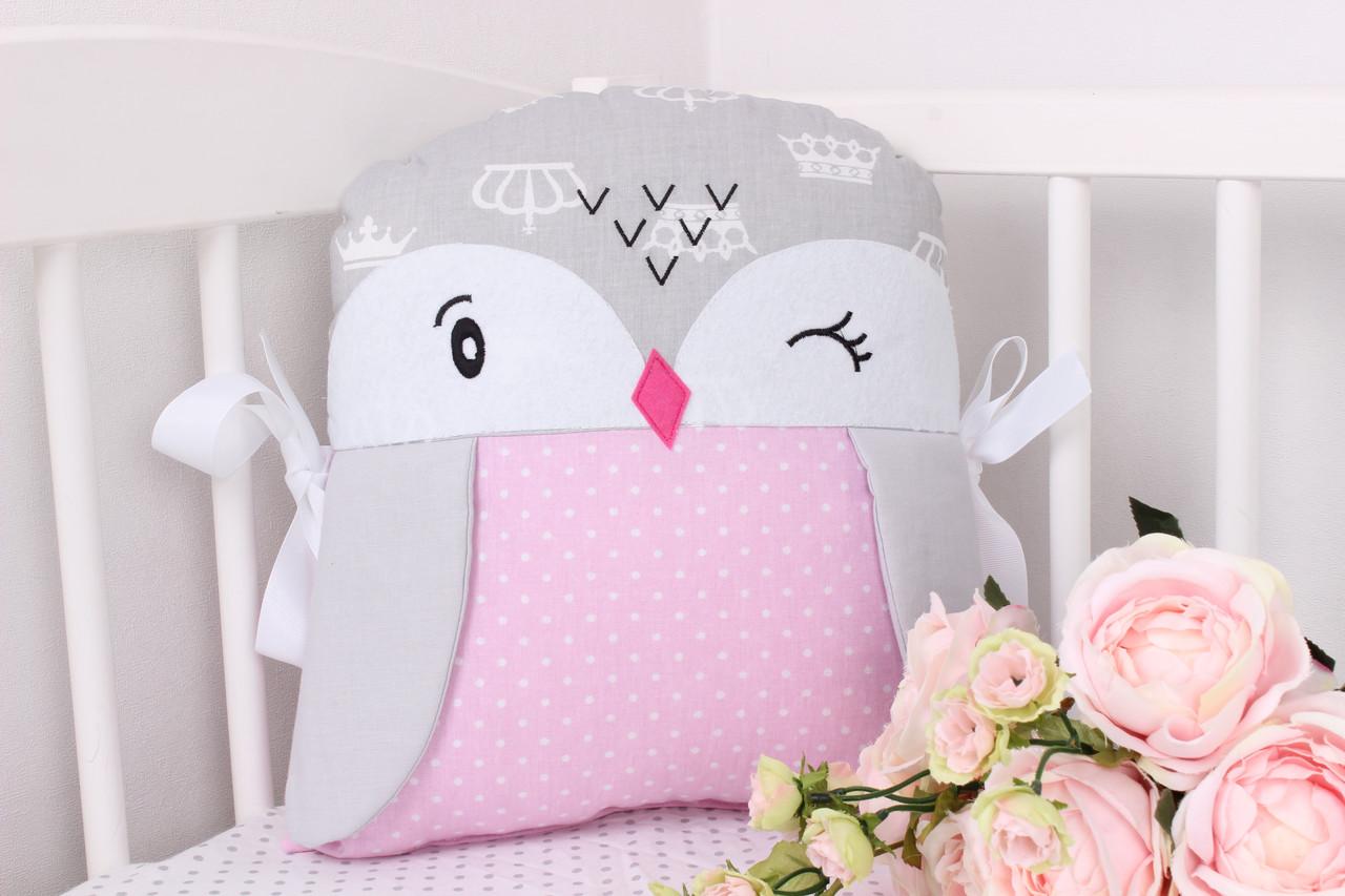 Игрушка защита в детскую кроватку пингвин