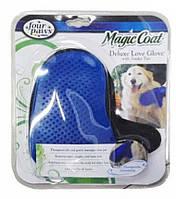 Перчатка для чистки животных,Перчатка для вычесывания шерсти животных  Magic Coat Dog Grooming