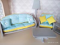 Кукольный домик с текстилем и мебелью, фото 1