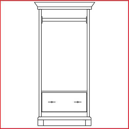 Шкаф  Кантри 2Д / 650  (Світ Меблів), фото 2