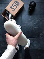 Кроссовки женские Adidas Yeezy Boost 350 V2 белые топ реплика, фото 2
