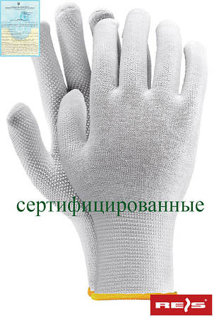 Защитные перчатки изготовленные их хлопка, с односторонним накроплением RMICROLUX W