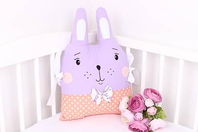 Подушка игрушка в детскую кроватку зая
