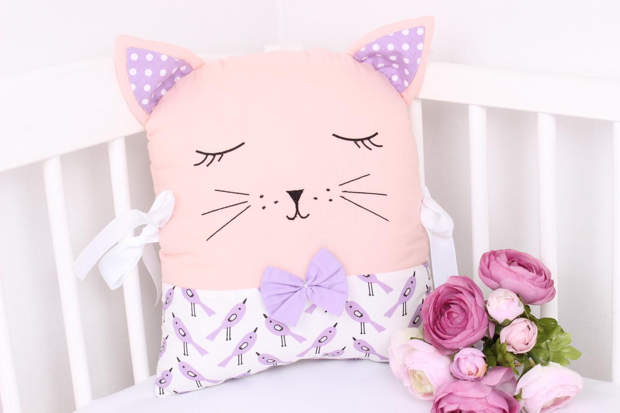 Подушка игрушка в детскую кроватку киця