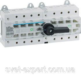 Перемикач модульний трьохпозиційний Hager HI403R I-0-II до 50мм2, 4п 63А