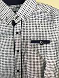 Рубашка на кнопках, заплатки на локтях для мальчиков 6-14 лет, фото 3