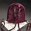 Рюкзак женский велюровый Adel бордовый, фото 4