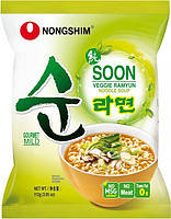 Лапша Рамен быстрого приготовления вегетарианска Soon Veggie Ramyun Nong Shim 112 г