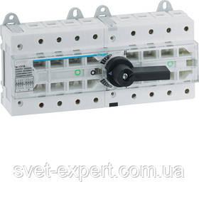 Перемикач модульний трьохпозиційний Hager HI405R I-0-II до 50мм2, 4п 100А