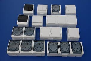 Влагозащищенные розетки и выключатели (ip44-65)