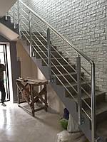 Алюминиевые перила квадрат и круг