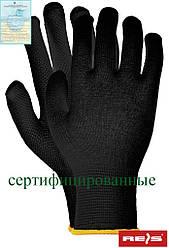 Защитные перчатки изготовленные их хлопка, с односторонним накроплением RMICROLUX B