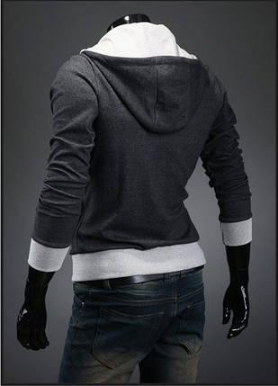 Мужская утепленная толстовка с капюшоном, фото 2