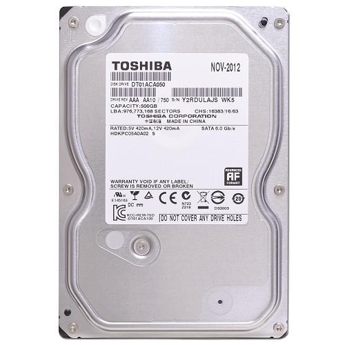 """Жесткий диск Toshiba 500GB 7200rpm 32MB DT01ACA050 3.5 SATA III  """"Over-Stock"""" Б/У"""