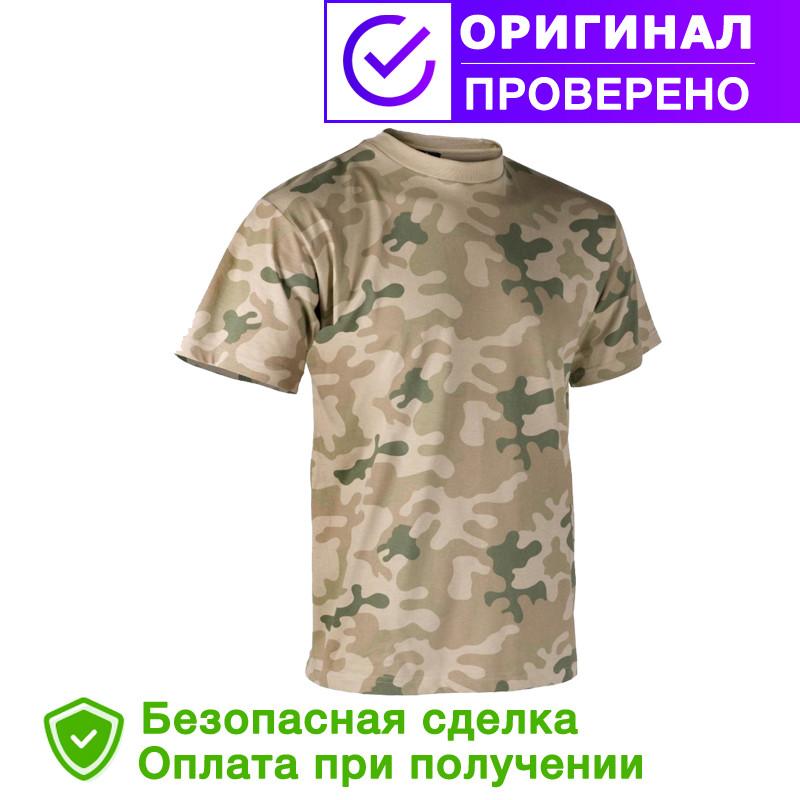Мужская хлопковая армейская футболка Helikon-Tex - Classic Army T-Shirt - PL Desert (TS-TSH-CO-06) S, M, L, XL