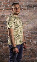 Мужская хлопковая армейская футболка Helikon-Tex - Classic Army T-Shirt - PL Desert (TS-TSH-CO-06) S, M, L, XL, фото 3