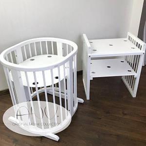 Овальная кроватка для детейANV+ 9 в 1