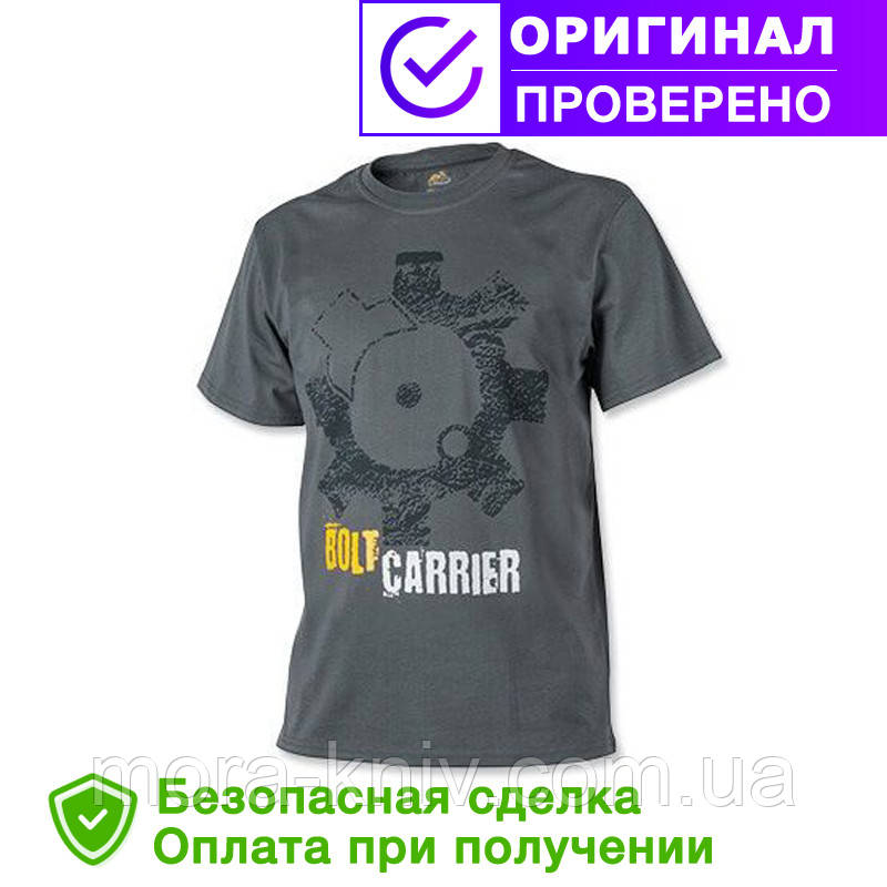Мужская хлопковая футболка T-Shirt Helikon Bolt Carrier - Shadow Grey (TS-BCR-CO-35)