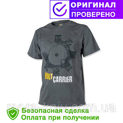 Мужская хлопковая футболка T-Shirt Helikon Bolt Carrier - Shadow Grey (TS-BCR-CO-35), фото 2