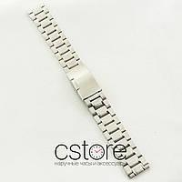 Стальной браслет для часов универсальный сталь 18мм, 20мм, 22мм (07077)
