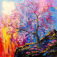 «Цветение сакуры» картина маслом