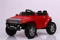Детский джип Hummer 5513, два мотора, 4 мотра, красный, дитячий електромобіль