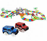 Детский автотрек Magic Tracks Mega Set 220 деталей + 2 машинки -  подарок для мальчика, фото 6