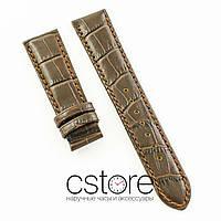 Универсальный кожаный ремешок для часов 21 мм brown (07240)