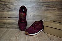 Мужские кроссовки Reebok Classic замшевые, цвет - бордовый