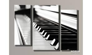 """Модульная картина на холсте """"Пианино"""" (HAT-074)"""