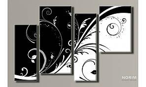 """Модульная картина на холсте """"Абстракция стиль 3"""" (HAF-065)"""