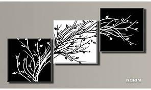 """Модульная картина на холсте """"Стильное дерево 2"""" (HAT-117)"""