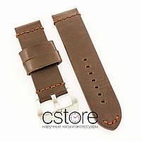 Универсальный кожаный ремешок для часов brown 20мм, 22мм, 24мм, 26мм (07304)