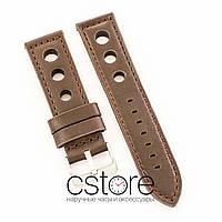 Универсальный кожаный ремешок для часов dark brown 20мм, 22мм, 24мм (07307)