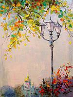 «Одинокий фонарь» картина маслом