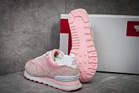 Кросівки жіночі New Balance 574, рожеві з блакитним. 36-40р