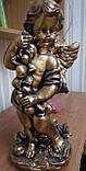 Скульптура Ангел с яблоками бетон 50 см, фото 2