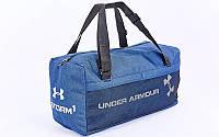 Сумка для спортзала Бочонок UNDER ARMOUR GA-019-B (полиэстер, р-р 48х14х24см, синий)