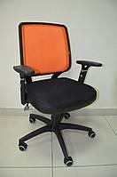 Кресло Онлайн сиденье Сетка черная/спинка Сетка салатовая, фото 1