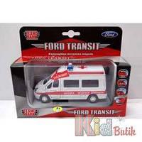 Автомодель FORD TRANSIT Реанимация, металическая, инерционная Технопарк 4690590063651