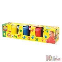 Пальчиковые краски - МОИ ПЕРВЫЕ РИСУНКИ (4 цвета, в пластиковых баночках) Ses 8710341003050