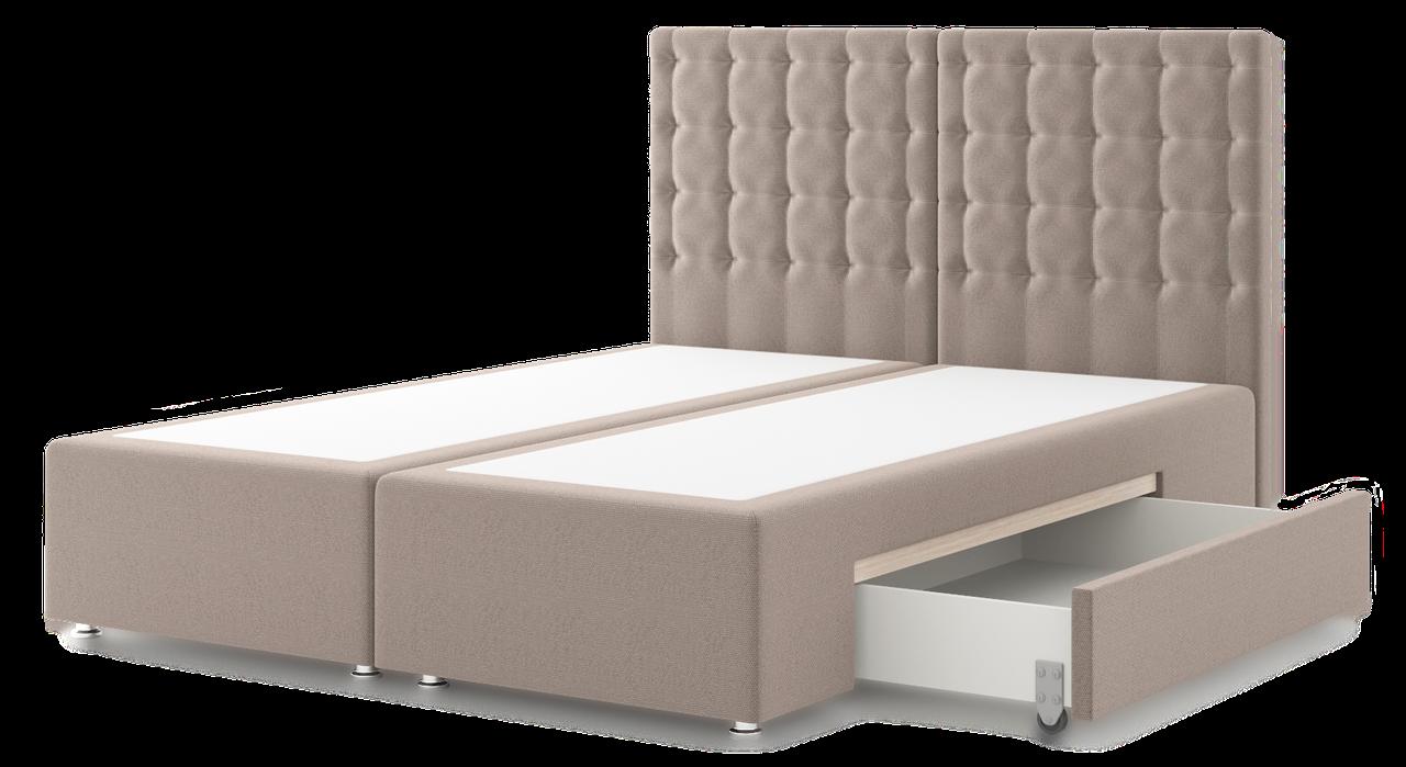 Подиум - кровать Адрия с ящиком (жесткая) (с изголовьем) (с доставкой)