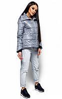 Молодіжна коротка сіра куртка Brendy (S, M, L)