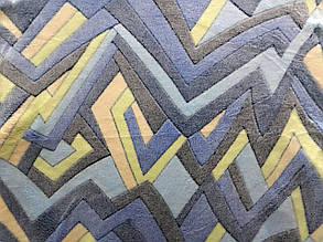 Плед з бамбукового волокна Wellsoft синя Абстракція