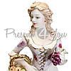 Фигурка-статуэтка фарфоровая Италия,ручная работа «Леди-Осень» Sabadin, h-33 см (2382Ls), фото 3