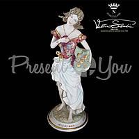 Фигурка-статуэтка фарфоровая Италия, ручная работа «Девушка Осень» Sabadin, h-48 см (2341Ls)