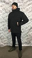 Куртка Патрол Софт Шел тактическая чёрная, фото 1