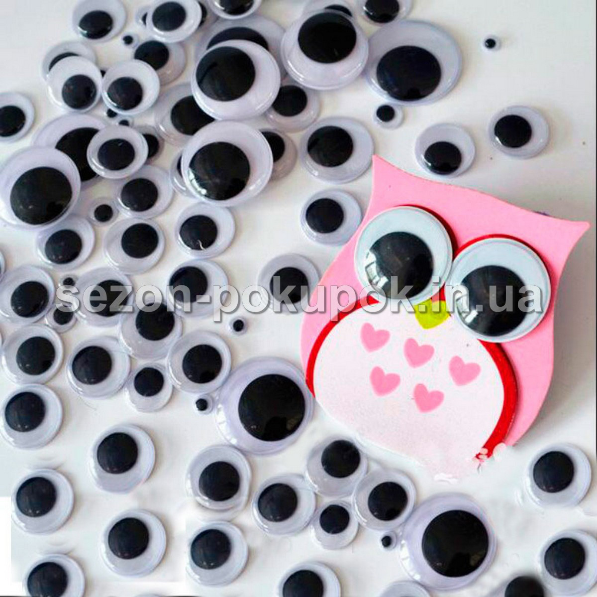 (10 грамм,d=15мм) Подвижные глазки для игрушек d=15мм (прим.65-70 глазок), фото 1
